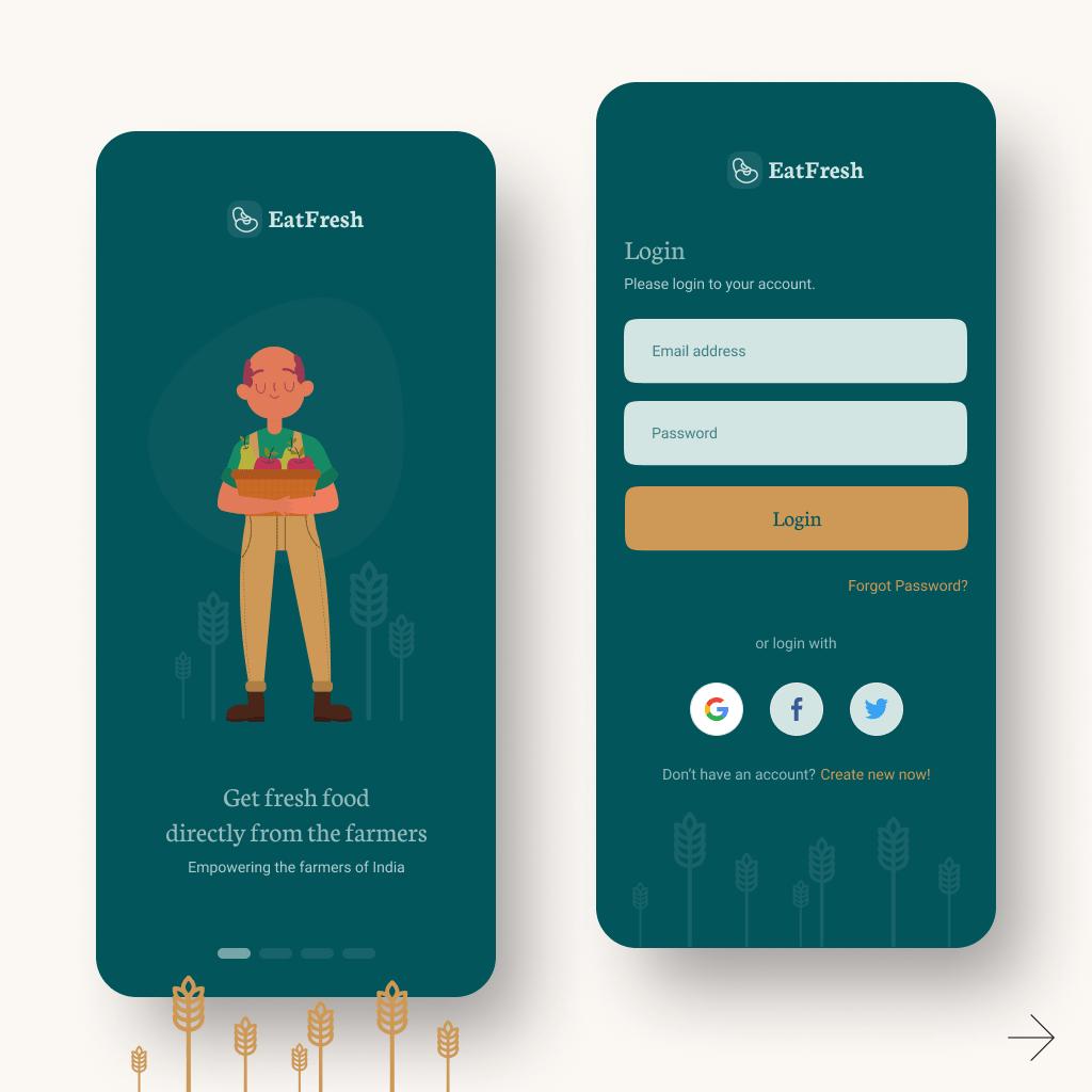 mobile app ui concept by graphics guruji